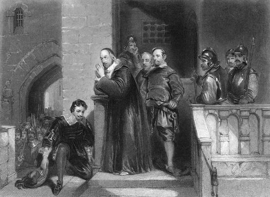 Strafford's Farewell, print made by S. Bull, 1844