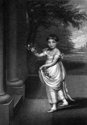 Elizabeth Barrett Moulton-Barrett at the age of nine, engraved by G. Cook, c. mid C19th
