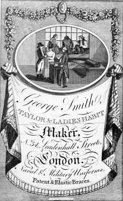 Advertisement for George Smith, Taylor & Ladies Habit Maker