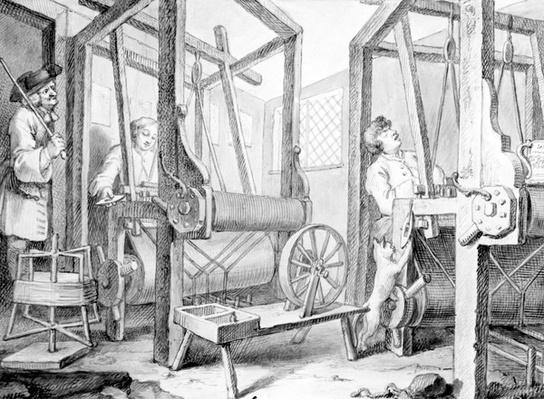 The Fellow Prentices at their Looms Representing Industry and Idleness, 1747
