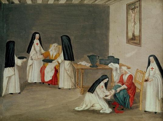 Caring for the Sick, from 'L'Abbaye de Port-Royal', c.1710