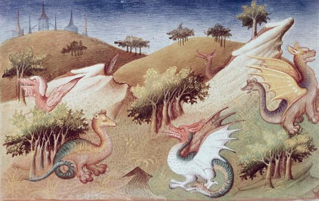 Ms Fr 2810 f.55v Dragons and other beasts