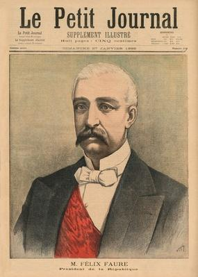 Felix Faure, President of the French Republic, front cover illustration from 'Le Petit Journal', supplement illustre, 27th January 1895