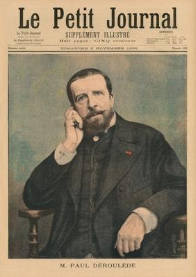 Paul Deroulede, front cover illustration from 'Le Petit Journal', supplement illustre, 3rd November 1895