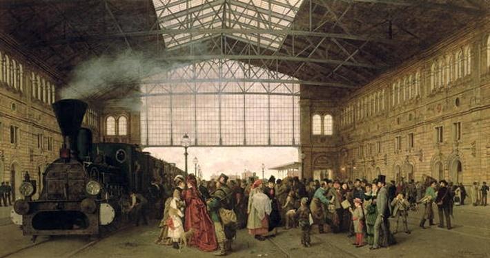 Nordwest Bahnhof, Vienna, 1875