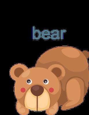 Alphabet, Letter B: Bee, Bear, Balloon, Bird, Butterfly | Clipart