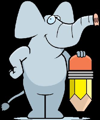 Elephant Pencil | Clipart