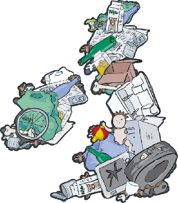 UK Landfill  -  The Importance of Recycling | Clipart