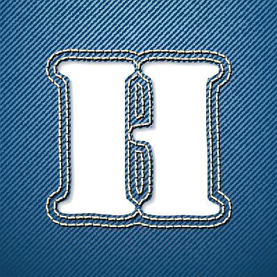 Denim Jeans: Letter H | Clipart
