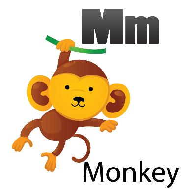 Animal Alphabet - M for Monkey | Clipart