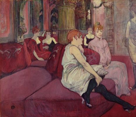 In the Salon at the Rue des Moulins, 1894 by Toulouse-Lautrec, Henri de (1864-1901)