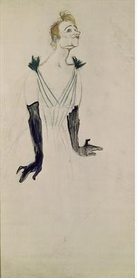 Yvette Guilbert by Toulouse-Lautrec, Henri de (1864-1901)