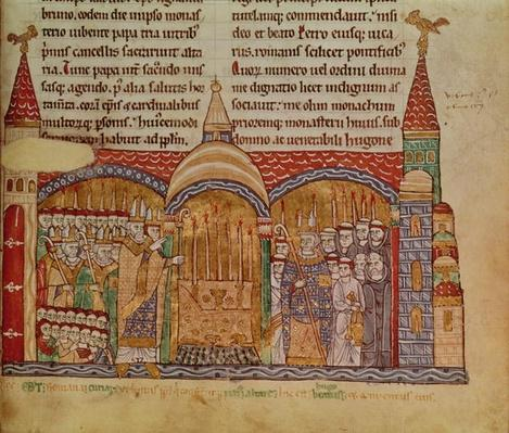 Ms Lat 17716 fol.91 The Consecration of the Church at Cluny by Pope Urban II