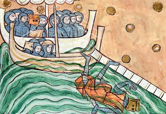 A Drowning Viking, possibly Olav Trygvason
