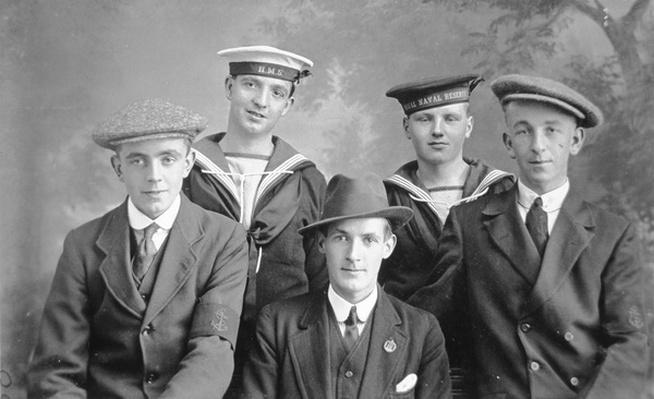 Sailors of the Royal Naval Reserve, 1914-18