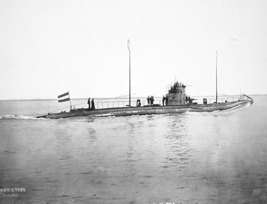 German U-boat, c.1915