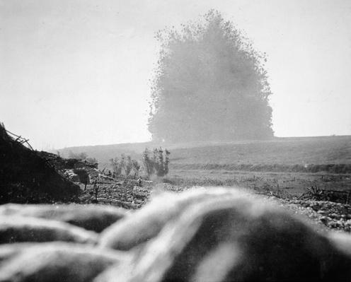 Detonation of the Hawthorn Ridge mine, 7.20 am, 1st July 1916