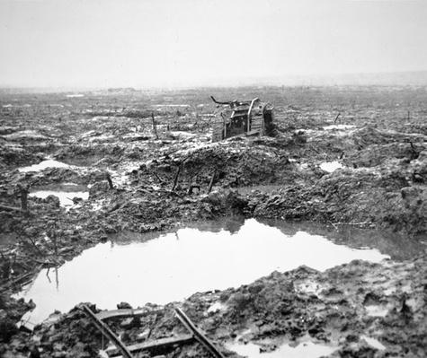 Battlefield near Passchendaele, Flanders, October 1917