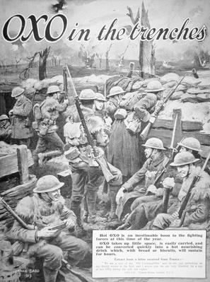 'Oxo in the trenches', 1917
