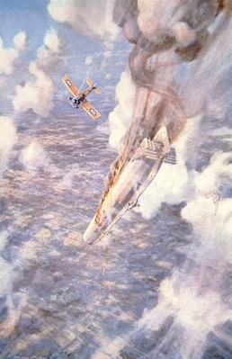'Death to the Murderers' - Lt Warneford shoots down a Zeppelin raider