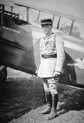 WWI French air ace Sous-Lieutenant Rene Fonck, awarded Legion D'Honneur after six victories, 8th May 1918