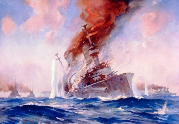 Battle of the Falklands: Sinking of the Scharnhorst, 1914