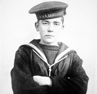 John Travers Cornwell, photographed while serving on the HMS Lancaster