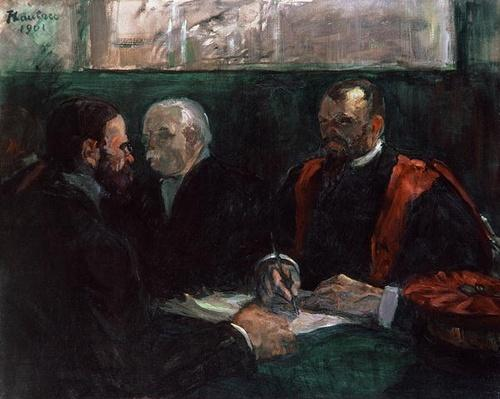 Examination at the Faculty of Medicine, 1901