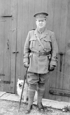 WWI Battalion Medical Officer, Derbyshire Volunteer Regiment, High Peak Battalion, 1914-18