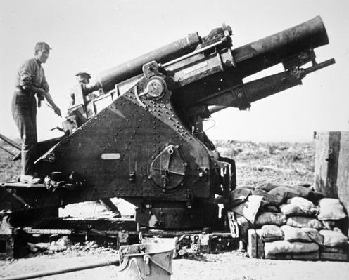 British artillery 9.2 calibre Howitzer for heavy bombardment, 1914-18