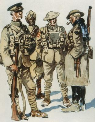 British Army Field Uniforms, 1914-18