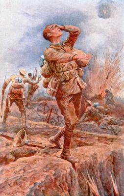 'Blinded for You' - WWI postcard published on behalf of the National Institute for the Blind