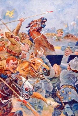 The Charge of the 9th Lancers during the Retreat from Mons
