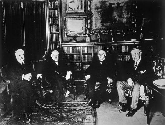 The Big Four at the Paris Peace Conference, 1919