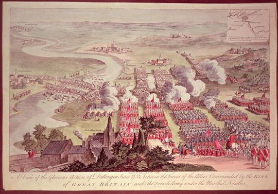 A View of the Glorious Action of Dettingen