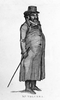 Mr Valobra, illustration from 'The Lives and Portraits of Remarkable Characters' by James Caulfield, published 1819