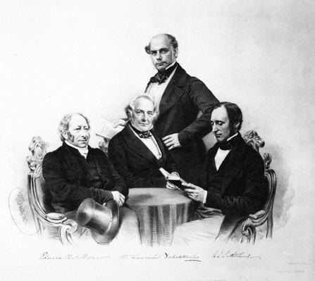 Portrait of doctors Edward Monro, William Lawrence, Forbes Winslow and A. J. Sutherland, 1857