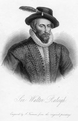 Sir Walter Raleigh, print made by S. Freeman