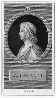 Virgilius, frontispiece from 'Publius Virgilius Maro' published 1821
