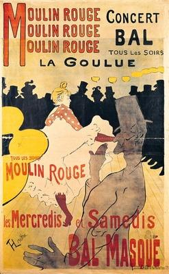 Poster advertising 'La Goulue' at the Moulin Rouge, 1893