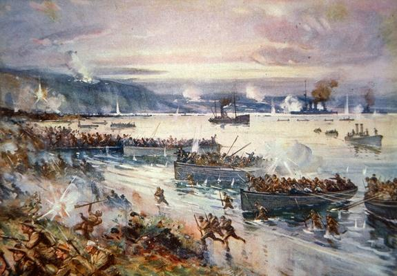 The Landing of the Australians at Gallipoli, April 1915