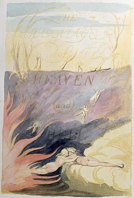 The Marriage of Heaven and Hell; title-page, 1790-93