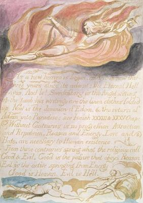 "The Marriage of Heaven and Hell; ""As a new heaven is begun"", c.1790"