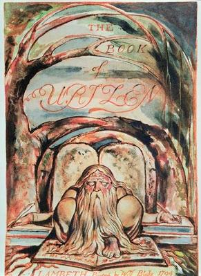 The First Book of Urizen; title page, showing Urizen