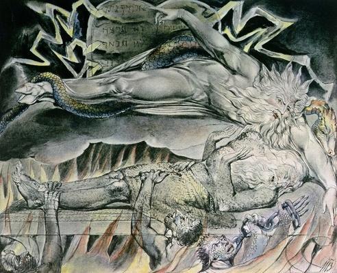 Illustrations of the Book of Job; Job's Evil Dreams