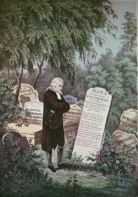 The Rev. John Wesley visiting his mother's grave
