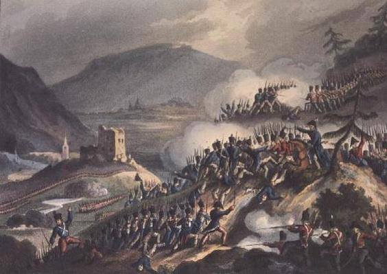 Battle of Castalla, 13th April, 1813 engraved by Thomas Sutherland