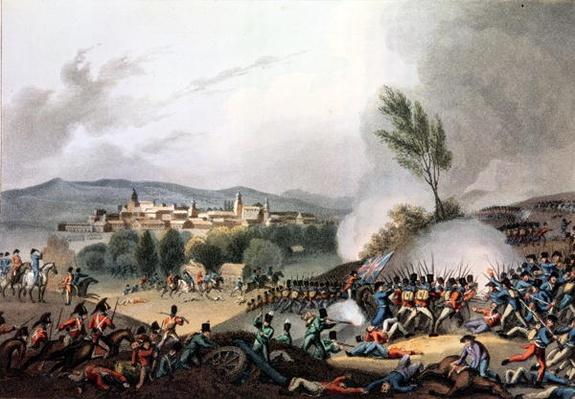 Battle of Vittoria, 21st June, 1813, etched by I. Clark, aquatinted by M. DuBourg