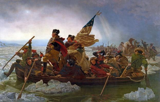 Washington Crossing the Delaware River, 25th December 1776, 1851