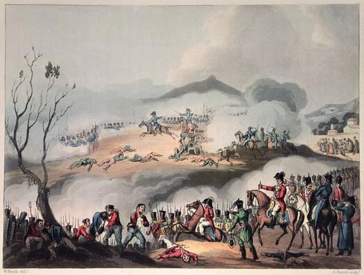 Battle of Orthes, 27th February 1814, engraved by Daniel Havell